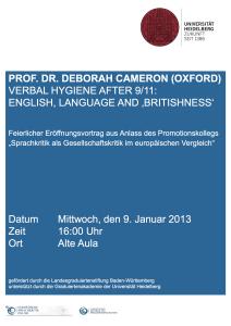 Plakat_ESO_Eröffnungsvortrag Deborah Cameron